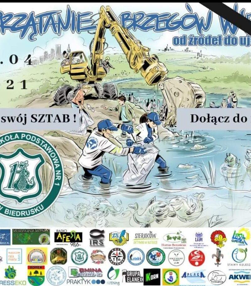 VII Sprzątanie Brzegów Warty- w kwietniu dołączamy do akcji 2021 r.