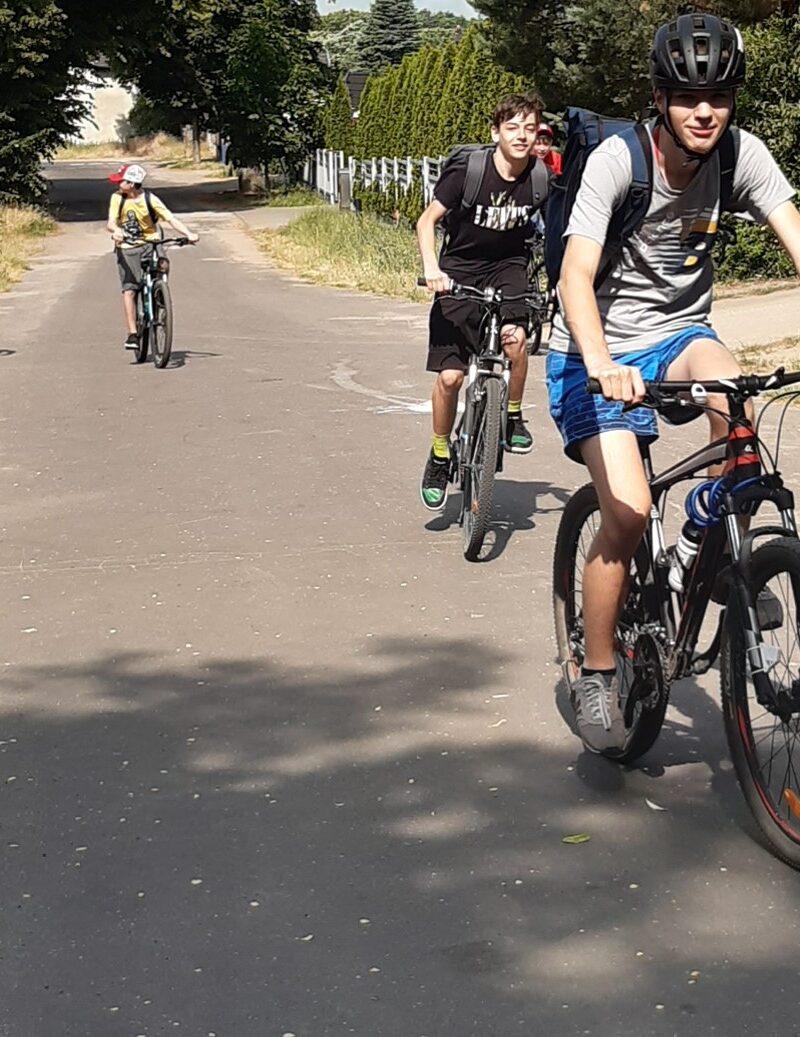 Rajd rowerowy ósmoklasistów 21.06.2021 r.